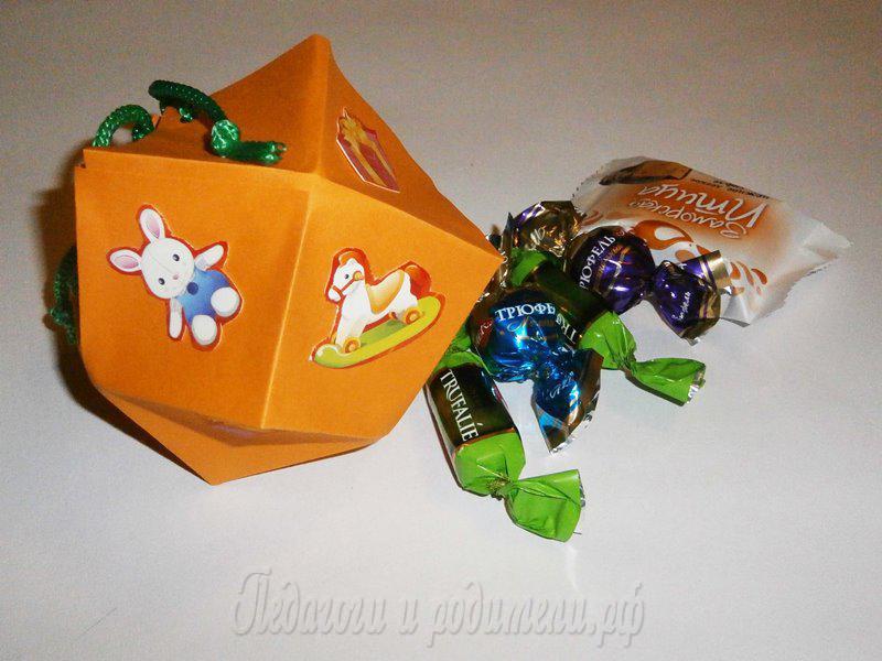 Конфетная коробка поделки из не