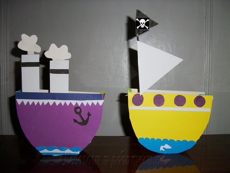 Поделка кораблик детский сад 83