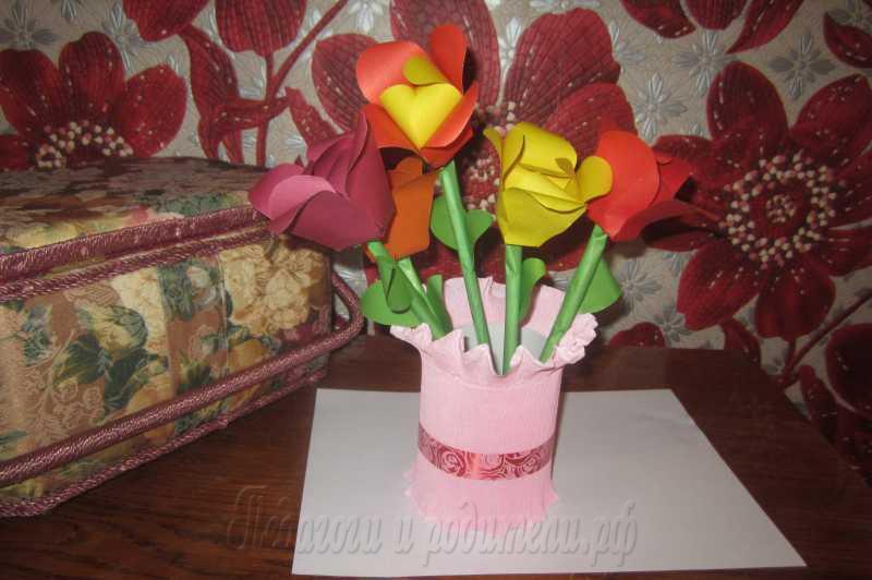 Цветы своими руками в 1 классе 743
