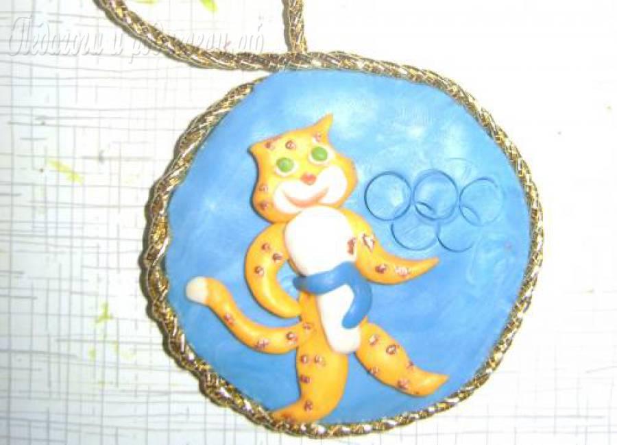 Поделка олимпийская медаль 81